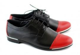 Pantofi dama piele naturala cu siret cod P50R - Made in Romania
