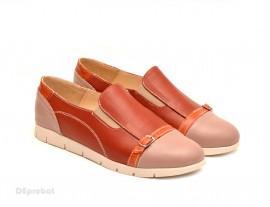 Pantofi dama sport-casual din piele naturala cu elastic cod P108