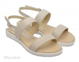 Poze Sandale dama piele naturala bej cu talpa joasa cod S21