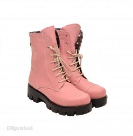 Poze Bocanci roz dama piele naturala sport-casual cod BOC14ROZ - Made in Romania