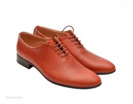 Poze Pantofi barbati piele naturala maro deschis casual-eleganti cod P68MD - Editie de LUX