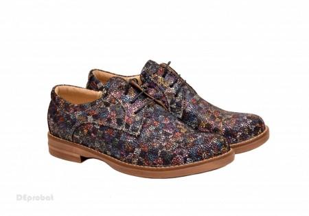 Poze Pantofi dama colorati lucrati manual din piele naturala cod P158 Picasso