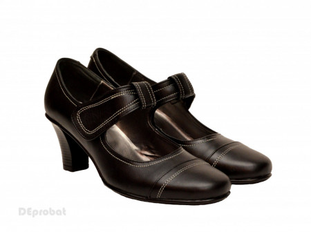 Poze Pantofi dama eleganti - casual negri din piele naturala cod P33N