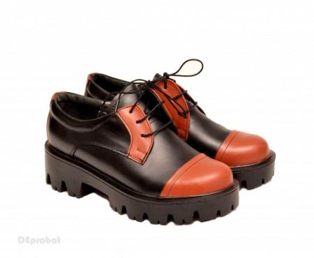 Pantofi dama lucrati manual din piele naturala cod P150