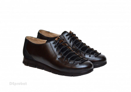 Poze Pantofi dama negri casual-eleganti din piele naturala cod P164N