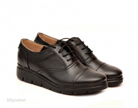 Poze Pantofi dama negri casual-eleganti din piele naturala cod P47N - LICHIDARE STOC 37