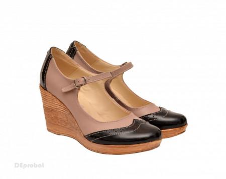 Pantofi dama piele naturala cu platforma cod P159 - LICHIDARE STOC 39