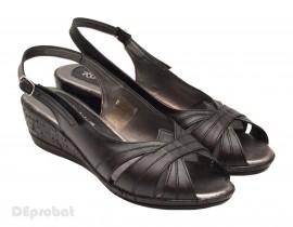 Sandale dama negre din piele naturala cod S22