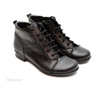 Poze Ghete dama piele naturala Negre casual-elegante cod G14N - Made in Romania