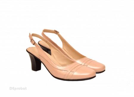 Poze Pantofi dama eleganti din piele naturala bej lacuit cod P167BEJ