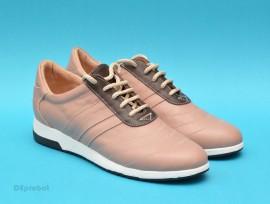 Pantofi sport dama piele naturala bej cod P123 - Made in Romania