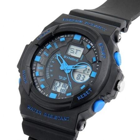 Poze Ceas barbatesc cu dublu afisaj, lumina, cronometru - Ceas pentru inot CC66866B