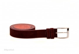 Poze Curea piele naturala intoarsa Bordo (latime 3,3 cm) - Made in Romania C60