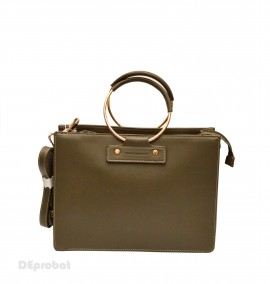Poze Geanta eleganta originala David Jones de dama 5635-1KHAKI