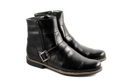 Ghete barbati piele naturala Negre casual-elegante cu fermoar cod G35N