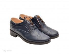 Poze Pantofi dama bleumarin casual-eleganti din piele naturala Oxford cod P71BL