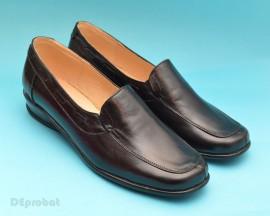 Poze Pantofi dama piele naturala negri cu elastic cod P56 - Made in Romania