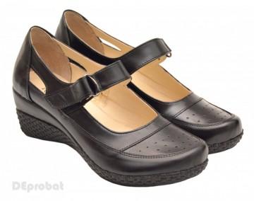 Pantofi dama piele naturala negri cu platforma cod P15 - LICHIDARE STOC 38