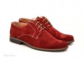 Poze Pantofi visinii barbati piele naturala velur casual-office - cod P119