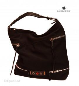 Geanta neagra dama David Jones originala 5677-1BLACK - Model panzat