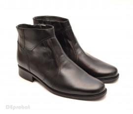 Ghete barbati piele naturala Negre casual-elegante cu fermoar cod G25