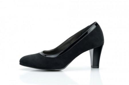 Poze Pantofi dama eleganti din piele naturala negri velur cod P307