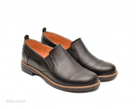 Pantofi dama negri casual-eleganti din piele naturala cod P75NEL Natasha