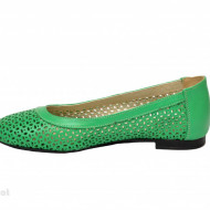 Balerini verzi dama din piele naturala cod B37