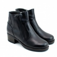 Ghete dama casual-elegante negre din piele naturala cod G33N