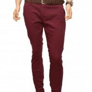 Pantaloni Slim Fit Bordo bumbac - Pantaloni barbati casual-eleganti PN20