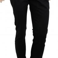 Pantaloni Slim Fit Negri bumbac - Pantaloni barbati casual-eleganti PN13