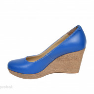 Pantofi albastru electric dama eleganti - casual din piele naturala cod LSP199