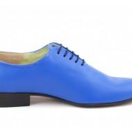 Pantofi barbatesti albastri piele naturala casual-eleganti cod P65A - Editie de LUX