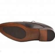 Pantofi barbati piele naturala negri casual-eleganti cod P76N - Editie de LUX