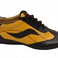 Pantofi dama din piele naturala cu siret cod P29