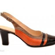 Pantofi dama eleganti din piele naturala cu toc de 7 cm cod P115