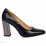 Pantofi dama eleganti din piele naturala negri cod P339