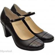 Pantofi dama piele naturala negri cod P13 - Made in Romania