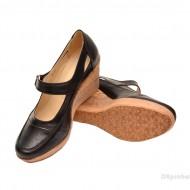 Pantofi dama piele naturala negri cu platforma cod P74N - Made in Romania
