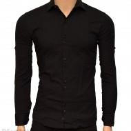 Camasa Slim Fit Neagra bumbac - Camasa neagra casual-eleganta ZR26