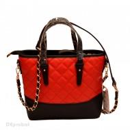 Geanta dama rosu cu negru casual Good Mood 611R