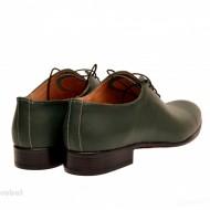 Pantofi barbatesti verzi piele naturala casual-eleganti cod P65V - Editie de LUX