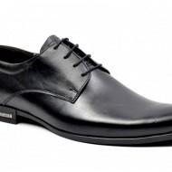 Pantofi barbati piele naturala negri casual-eleganti cod P128 - Editia Elegance