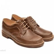 Pantofi dama casual din piele naturala maro cod P98 - LICHIDARE STOC 39