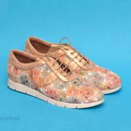 Pantofi dama colorati lucrati manual din piele naturala cod P173 Picasso