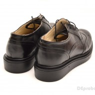 Pantofi dama negri casual-eleganti din piele naturala Oxford Black cod P60