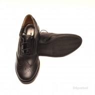 Pantofi dama negri casual-eleganti din piele naturala Oxford Black cod P71N