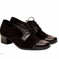 Pantofi dama negri din piele naturala cod P139N - LICHIDARE STOC 36, 37