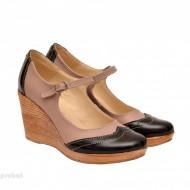 Pantofi dama piele naturala cu platforma cod P159