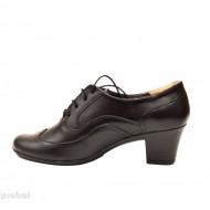 Pantofi negri dama casual-eleganti din piele naturala cod P129 - LICHIDARE STOC 40